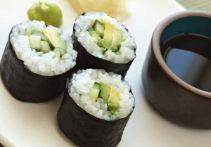 Tuna-sushi-with-avvocado-and-cucumber