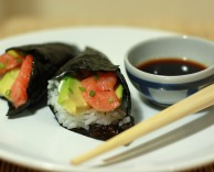 temaki sushi, легкий рецепт маки суши с лососем
