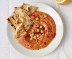 пошаговый рецепт необычного хумуса с нутом и болгарским перцем