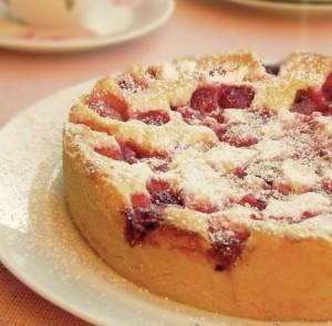 рецепт шведский пирог с малиной