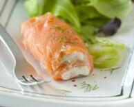 Салат из красной рыбы, фенхеля и маскарпоне